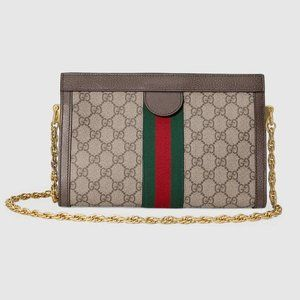 NWT GUCCI Ophidia GG small canvas shoulder bag pup